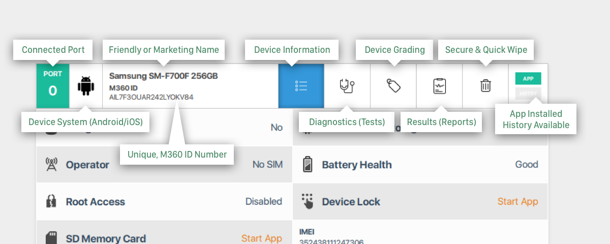 M360 Main Features / M360 / Mobile Diagnostics & Utility